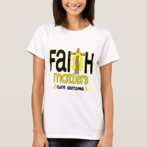 Sarcoma Faith Matters Cross 1 T-Shirt