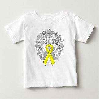 Sarcoma Fight Like A Girl Fleurish Tshirt