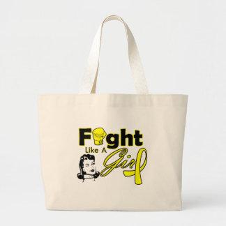 Sarcoma Fight Like A Girl - Retro Girl Jumbo Tote Bag