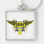 Sarcoma Fight Like a Girl Wings.png Keychains