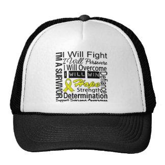 Sarcoma Fight Persevere Overcome Win Mesh Hats