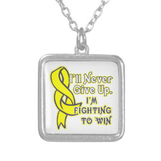 Sarcoma Fighting To Win Square Pendant Necklace