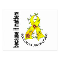 SARCOMA Flower Ribbon 3 Postcard