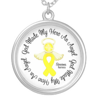 Sarcoma God Made My Hero An Angel Round Pendant Necklace