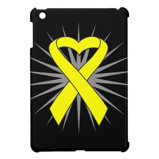 Sarcoma Heart Ribbon iPad Mini Cover