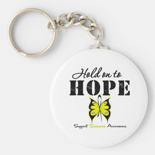 Sarcoma Hold On To Hope Basic Round Button Keychain