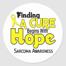 Sarcoma HOPE 5 Classic Round Sticker