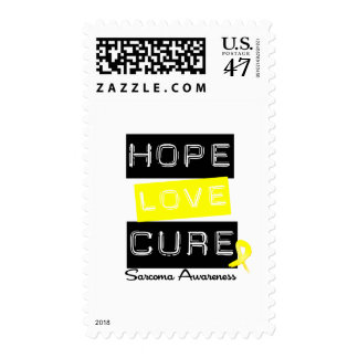 Sarcoma Hope Love Cure Postage Stamp