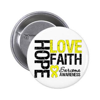 Sarcoma Hope Love Faith Pins