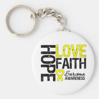 Sarcoma Hope Love Faith Keychain