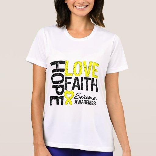 Sarcoma Hope Love Faith Tshirts