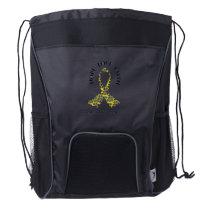 Sarcoma Hope - Sarcoma Awareness Drawstring Backpack