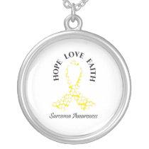 Sarcoma Hope - Sarcoma Awareness Silver Plated Necklace