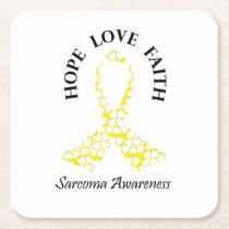 Sarcoma Hope - Sarcoma Awareness Square Paper Coaster