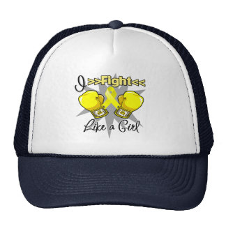 Sarcoma I Fight Like a Girl With Gloves Trucker Hat