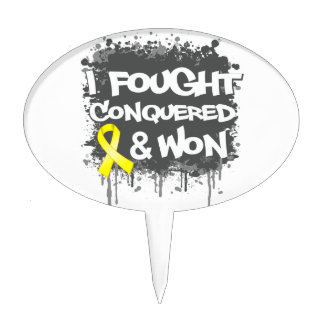 Sarcoma I Fought Conquered Won Cake Pick