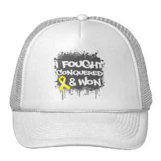 Sarcoma I Fought Conquered Won Mesh Hat