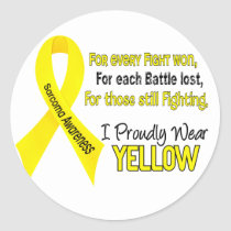 Sarcoma I Proudly Wear Yellow 1 Classic Round Sticker