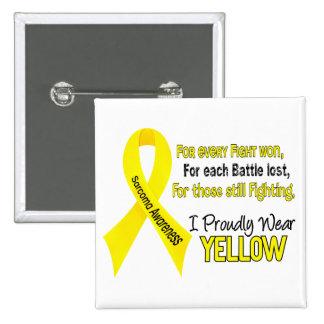 Sarcoma I Proudly Wear Yellow 1 Pinback Button