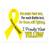 Sarcoma I Proudly Wear Yellow 1 Postcard