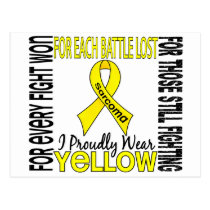 Sarcoma I Proudly Wear Yellow 2 Postcard