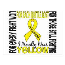 Sarcoma I Proudly Wear Yellow 2 Postcard