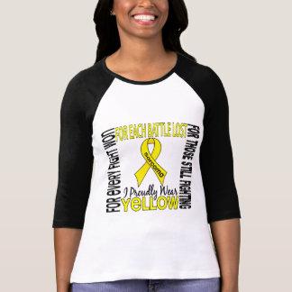 Sarcoma I Proudly Wear Yellow 2 T Shirt
