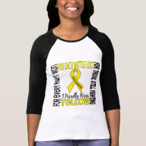 Sarcoma I Proudly Wear Yellow 2 T-Shirt