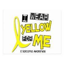 Sarcoma I WEAR YELLOW FOR ME 37 Postcard