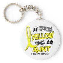 Sarcoma I WEAR YELLOW FOR MY AUNT 37 Keychain