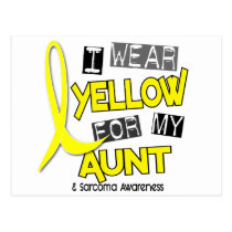 Sarcoma I WEAR YELLOW FOR MY AUNT 37 Postcard