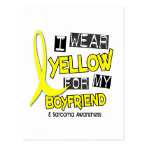 Sarcoma I WEAR YELLOW FOR MY BOYFRIEND 37 Postcard