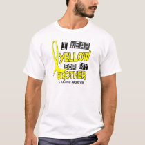 Sarcoma I WEAR YELLOW FOR MY BROTHER 37 T-Shirt