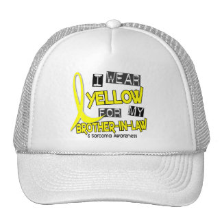 Sarcoma I WEAR YELLOW FOR MY BROTHER-IN-LAW 37 Trucker Hat