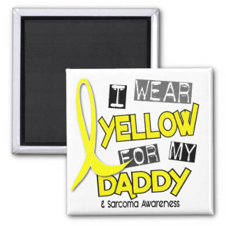 Sarcoma I WEAR YELLOW FOR MY DADDY 37 2 Inch Square Magnet