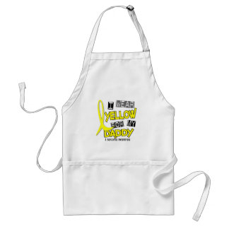 Sarcoma I WEAR YELLOW FOR MY DADDY 37 Aprons