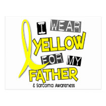 Sarcoma I WEAR YELLOW FOR MY FATHER 37 Postcard