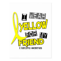 Sarcoma I WEAR YELLOW FOR MY FRIEND 37 Postcard