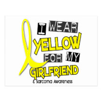 Sarcoma I WEAR YELLOW FOR MY GIRLFRIEND 37 Postcard