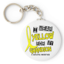 Sarcoma I WEAR YELLOW FOR MY GRANDSON 37 Keychain