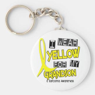 Sarcoma I WEAR YELLOW FOR MY GRANDSON 37 Keychain