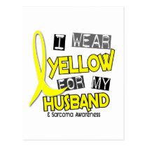 Sarcoma I WEAR YELLOW FOR MY HUSBAND 37 Postcard