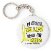 Sarcoma I WEAR YELLOW FOR MY MOM 37 Keychain