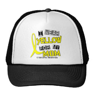Sarcoma I WEAR YELLOW FOR MY MOM 37 Trucker Hat