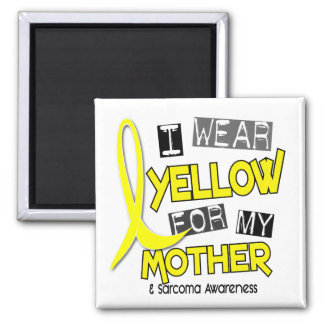 Sarcoma I WEAR YELLOW FOR MY MOTHER 37 2 Inch Square Magnet