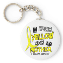 Sarcoma I WEAR YELLOW FOR MY MOTHER 37 Keychain