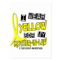 Sarcoma I WEAR YELLOW FOR MY MOTHER-IN-LAW 37 Postcard