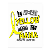 Sarcoma I WEAR YELLOW FOR MY NANA 37 Postcard