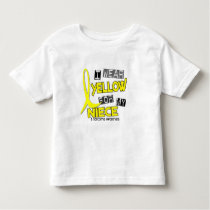 Sarcoma I WEAR YELLOW FOR MY NIECE 37 Toddler T-shirt