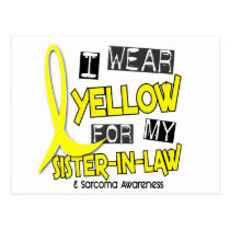 Sarcoma I WEAR YELLOW FOR MY SISTER-IN-LAW 37 Postcard